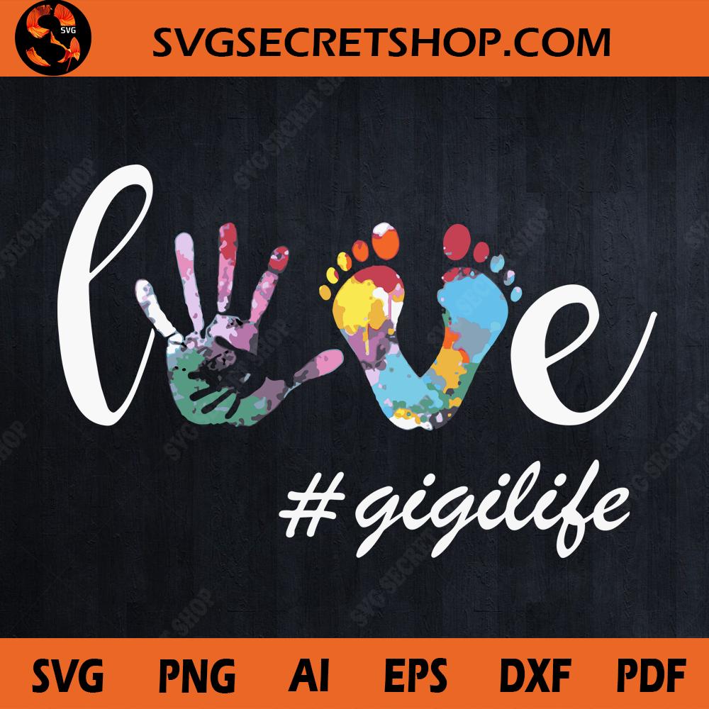 Download Love Gigilife SVG Design, Foot And Hand Color SVG, Gift ...